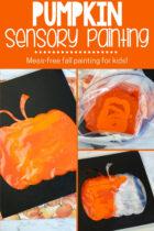 Mess Free Pumpkin Sensory Painting