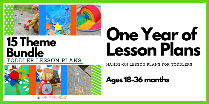 Toddler Lesson Plans Bundle 15 Themes