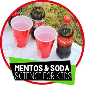 mentos and soda chemical reaction science experiment for kids featured image