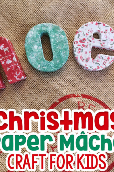 Paper Mache Christmas Crafts for Kids Featured Image