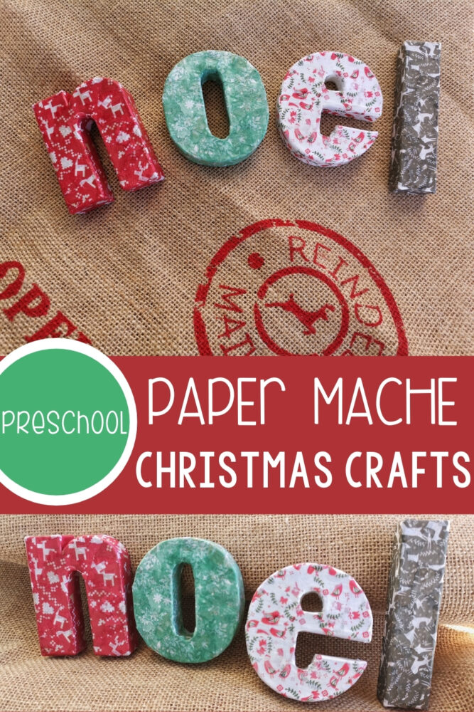Paper Mache Christmas Crafts for Kids Pinterest Image 1