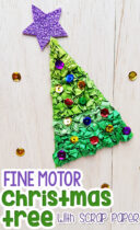 Fine Motor Christmas Tree With Scrap Paper