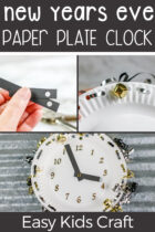 New Year's Eve Paper Plate Clock Craft for Kids