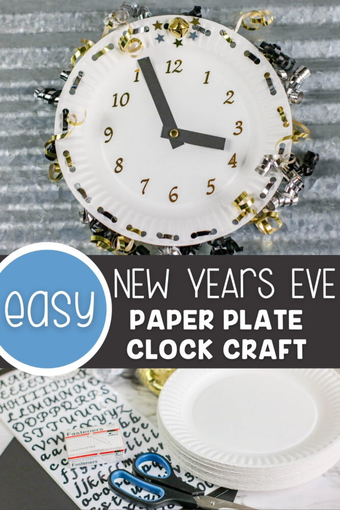 Easy New Years Eve Paper Plate Craft For Kids