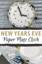 New Years Eve Paper Plate Clock