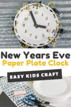 Easy New Years Eve Paper Plate Clock