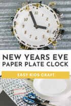 New Years Eve Paper Plate Clock Easy Kids Craft