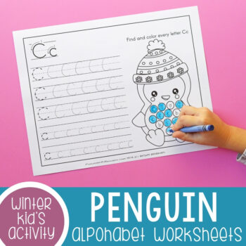 Penguin Alphabet Worksheets Featured Image