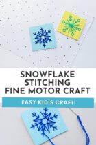 Easy Snowflake Stitching Fine Motor Craft