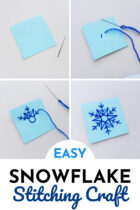 Easy Snowflake Stitching Craft