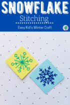 Snowflake Stitching Easy Kid's Winter Craft