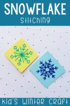 Snowflake Stitching Kid's Winter Craft
