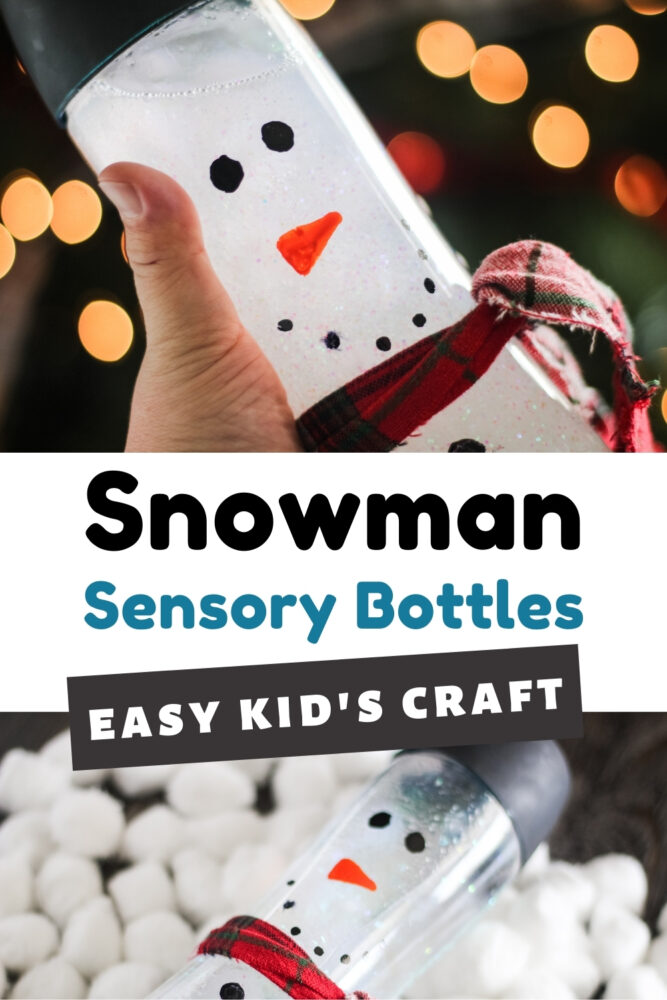 Easy Snowman Sensory Bottles Kid's Craft