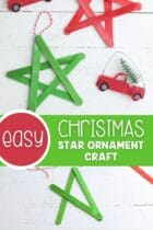 Easy Christmas Star Ornament Craft