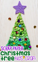 Construction Paper Christmas Tree Kids Craft