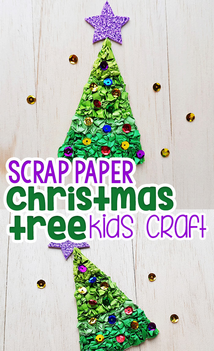 Construction Paper Christmas Tree Craft Pinterest Image 1
