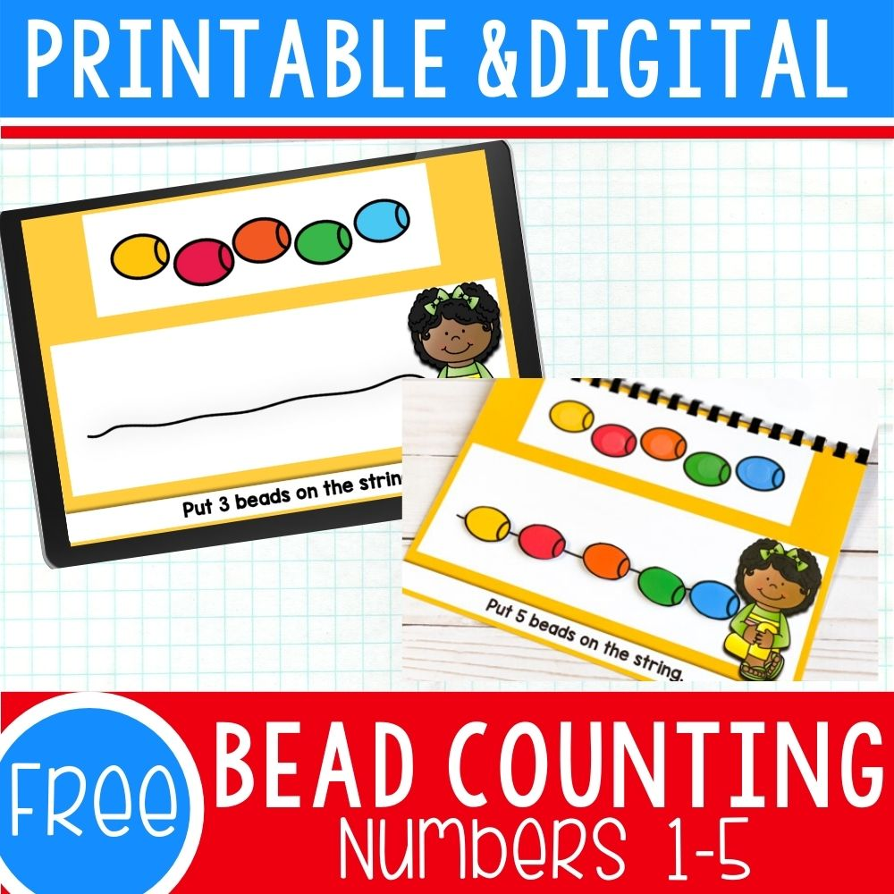 Free Bead Counting Activities for Preschool