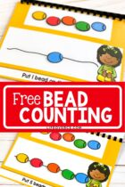 Free printable and digital bead counting activity.
