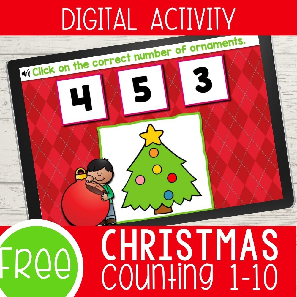 Christmas Theme Counting Activities for Kindergarten