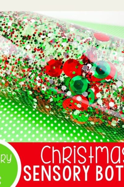 Christmas Sensory Bottle featured image.