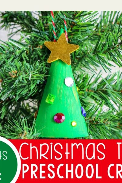 Easy Christmas tree craft for preschoolers.