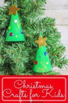 Christmas tree paper craft for preschoolers.
