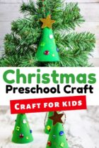 Christmas tree preschool craft.