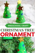 Christmas Tree Ornament craft for kids.