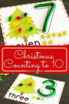 Christmas play dough number mats printable.