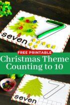 Christmas counting mats printable.