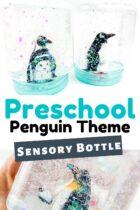 Penguin sensory bottle craft.