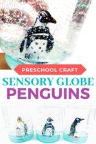 Penguin sensory globe craft.