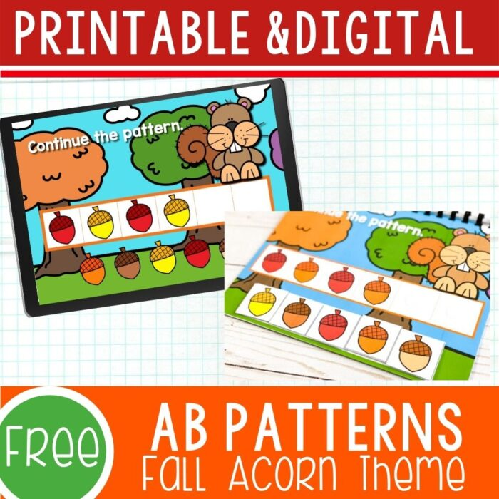Digital fall patterns for preschool.