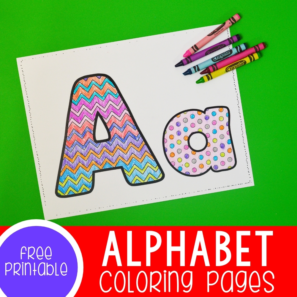 Alphabet Coloring Pages Featured Square Image
