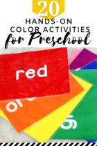 20 Hands-On Color Activities for Preschool pinterest image.