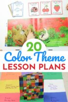 20 Color Theme Lesson Plans pinterest image.
