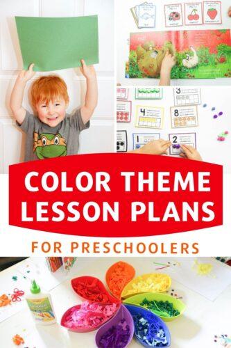 Color Theme Lesson Plans For Preschoolers pinterest image.