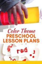 Color Theme Preschool Lesson Plans pinterest image.