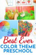 Best Ever Color Theme Preschool Activities pinterest image.
