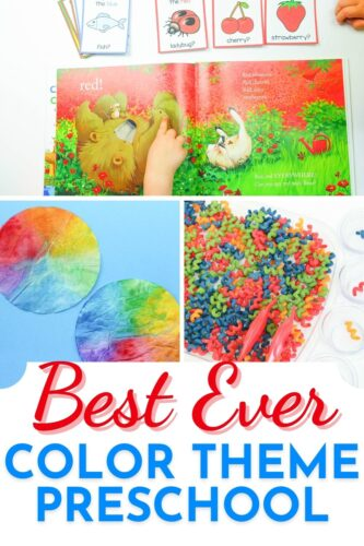 Best Ever Color Theme Preschool Activities pinterest image.