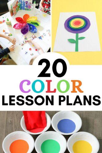 20+ Color Lesson Plans pinterest image.