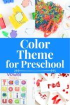 Color Theme Activities for Preschool pinterest image.
