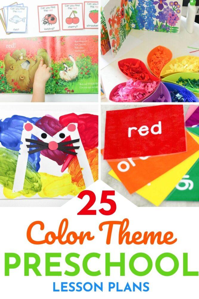20+ Color Activities For Preschool Lesson Plans -