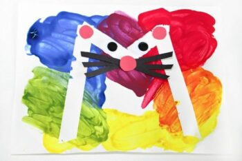 A preschool color activity craft of the letter