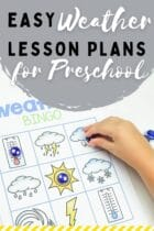 Easy Weather Lesson Plans for Preschool
