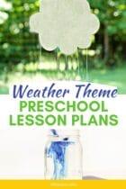 Weather Theme Preschool Lesson Plans
