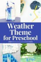 Weather Theme Activities for Preschool