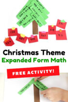 Christmas Theme Expanded Form Math Activity