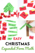 Easy Christmas Expanded Form Math