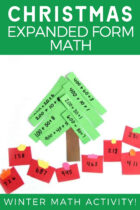 Christmas Expanded Form Math Winter Math Activity